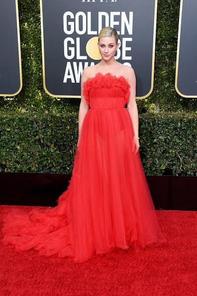 BEVERLY HILLS, CA - JANUARY 06:  Lili Reinhart attends the 76th Annual Golden Globe Awards at The Beverly Hilton Hotel on January 6, 2019 in Beverly Hills, California.  (Photo by Jon Kopaloff/Getty Images)