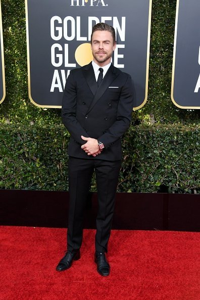 BEVERLY HILLS, CA - JANUARY 06:  Derek Hough attends the 76th Annual Golden Globe Awards at The Beverly Hilton Hotel on January 6, 2019 in Beverly Hills, California.  (Photo by Jon Kopaloff/Getty Images)