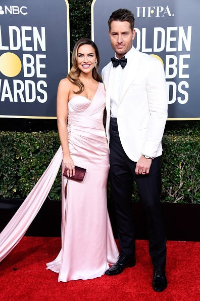 BEVERLY HILLS, CA - JANUARY 06:  Chrishell Stause (L) and Justin Hartley attend the 76th Annual Golden Globe Awards at The Beverly Hilton Hotel on January 6, 2019 in Beverly Hills, California.  (Photo by Frazer Harrison/Getty Images)