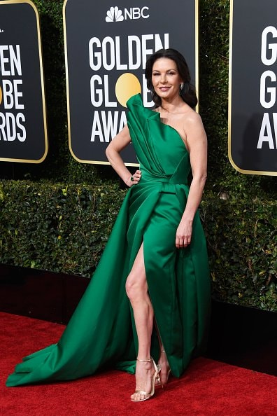 BEVERLY HILLS, CA - JANUARY 06:  Catherine Zeta-Jones attends the 76th Annual Golden Globe Awards at The Beverly Hilton Hotel on January 6, 2019 in Beverly Hills, California.  (Photo by Frazer Harrison/Getty Images)