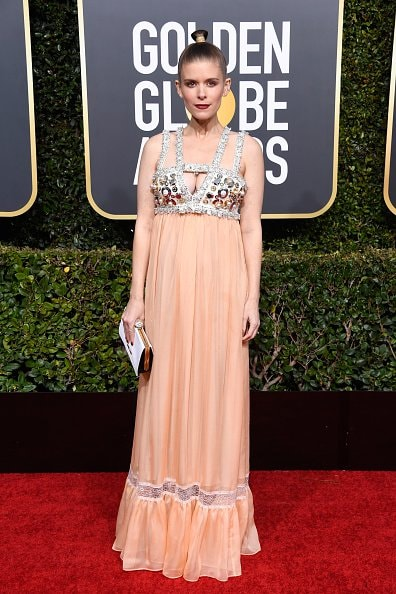 BEVERLY HILLS, CA - JANUARY 06:  Kate Mara attends the 76th Annual Golden Globe Awards at The Beverly Hilton Hotel on January 6, 2019 in Beverly Hills, California.  (Photo by Frazer Harrison/Getty Images)