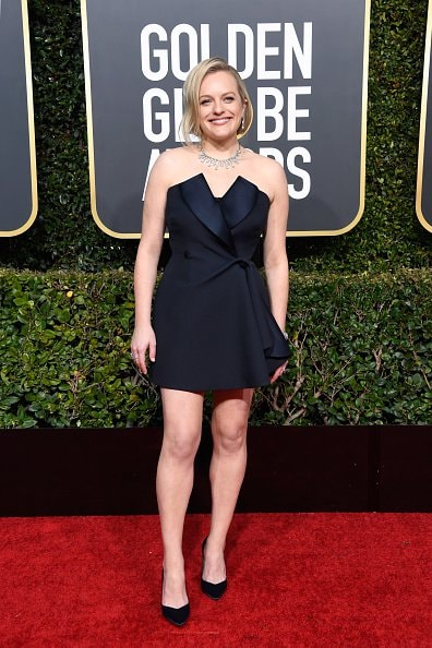 BEVERLY HILLS, CA - JANUARY 06:  Elisabeth Moss attends the 76th Annual Golden Globe Awards at The Beverly Hilton Hotel on January 6, 2019 in Beverly Hills, California.  (Photo by Frazer Harrison/Getty Images)