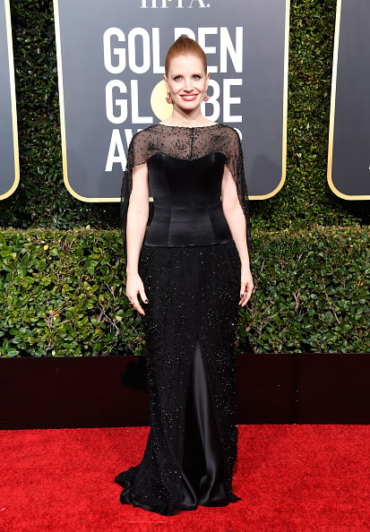 BEVERLY HILLS, CA - JANUARY 06:  Jessica Chastain attends the 76th Annual Golden Globe Awards at The Beverly Hilton Hotel on January 6, 2019 in Beverly Hills, California.  (Photo by Frazer Harrison/Getty Images)