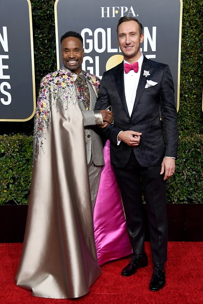 BEVERLY HILLS, CA - JANUARY 06:  Billy Porter (L) and Adam Smith attend the 76th Annual Golden Globe Awards at The Beverly Hilton Hotel on January 6, 2019 in Beverly Hills, California.  (Photo by Frazer Harrison/Getty Images)