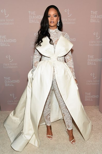 NEW YORK, NY - SEPTEMBER 13: Rihanna attends Rihanna's 4th Annual Diamond Ball benefitting The Clara Lionel Foundation at Cipriani Wall Street on September 13, 2018 in New York City.  (Photo by Dimitrios Kambouris/Getty Images for Diamond Ball)