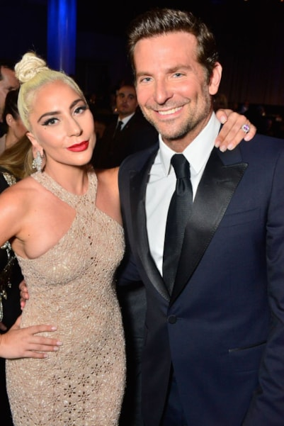 "After collaborating on the Oscar-winning film ""A Star Is Born,"" Gaga revealed what she learned from Bradley Cooper to ""Entertainment Weekly.  ""I think what I learned from Bradley [is] it's okay to be relentlessly sure of your vision, and to go after it with every fiber of your being, and to never stop white gloving what you're making. Sometimes, as an artist, I second-guess myself when I go, 'Am I pulling the thread? Am I unraveling the whole blanket now? Do I need to stop?' It's changed the way that I work today.""  (Photo by Jerod Harris/Getty Images for American Cinematheque)"