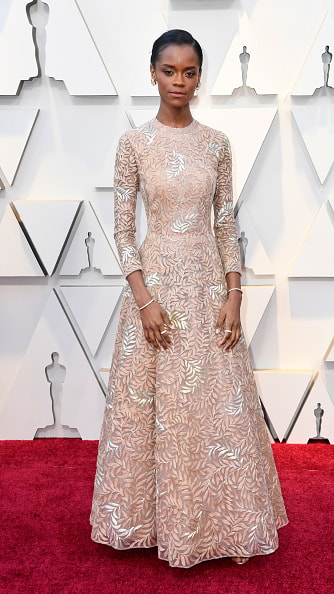 HOLLYWOOD, CALIFORNIA - FEBRUARY 24: Letitia Wright attends the 91st Annual Academy Awards at Hollywood and Highland on February 24, 2019 in Hollywood, California. (Photo by Frazer Harrison/Getty Images)