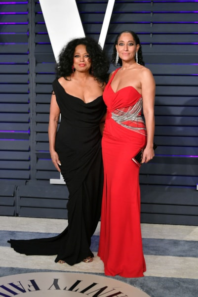 BEVERLY HILLS, CA - FEBRUARY 24:  Diana Ross (L) and Tracee Ellis Ross attend the 2019 Vanity Fair Oscar Party hosted by Radhika Jones at Wallis Annenberg Center for the Performing Arts on February 24, 2019 in Beverly Hills, California.  (Photo by Dia Dipasupil/Getty Images)