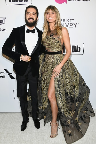WEST HOLLYWOOD, CA - FEBRUARY 24: Tom Kaulitz and Heidi Klum attend the 27th annual Elton John AIDS Foundation Academy Awards Viewing Party celebrating EJAF and the 91st Academy Awards on February 24, 2019 in West Hollywood, California.  (Photo by Araya Diaz/Getty Images for Marriott Bonvoy)
