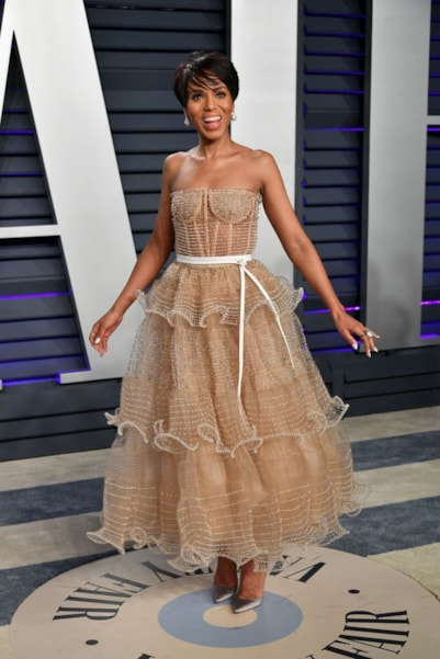 BEVERLY HILLS, CA - FEBRUARY 24:  Kerry Washington attends the 2019 Vanity Fair Oscar Party hosted by Radhika Jones at Wallis Annenberg Center for the Performing Arts on February 24, 2019 in Beverly Hills, California.  (Photo by Dia Dipasupil/Getty Images)