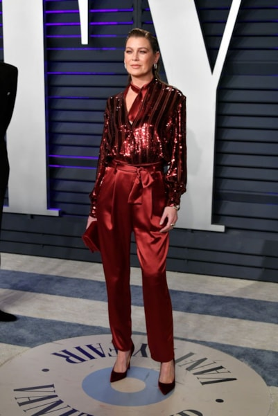 BEVERLY HILLS, CA - FEBRUARY 24:  Ellen Pompeo attends the 2019 Vanity Fair Oscar Party hosted by Radhika Jones at Wallis Annenberg Center for the Performing Arts on February 24, 2019 in Beverly Hills, California.  (Photo by Dia Dipasupil/Getty Images)