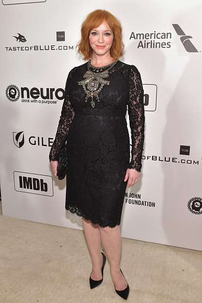 WEST HOLLYWOOD, CA - FEBRUARY 24:  Christina Hendricks attends the 27th annual Elton John AIDS Foundation Academy Awards Viewing Party celebrating EJAF and the 91st Academy Awards on February 24, 2019 in West Hollywood, California.  (Photo by Amy Sussman/Getty Images)