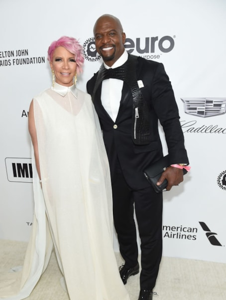 WEST HOLLYWOOD, CA - FEBRUARY 24:  (L-R) Rebecca King-Crews and Terry Crews attend the 27th annual Elton John AIDS Foundation Academy Awards Viewing Party sponsored by IMDb and Neuro Drinks celebrating EJAF and the 91st Academy Awards on February 24, 2019 in West Hollywood, California.  (Photo by Jamie McCarthy/Getty Images for EJAF)