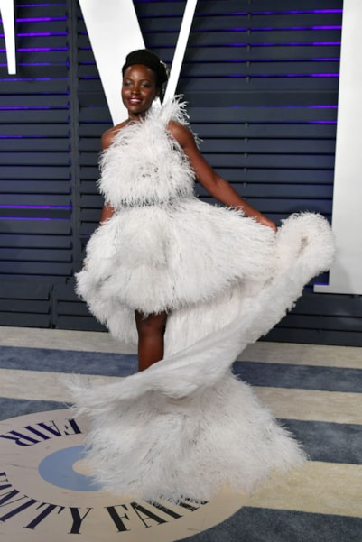 BEVERLY HILLS, CA - FEBRUARY 24:  Lupita Nyong'o attends the 2019 Vanity Fair Oscar Party hosted by Radhika Jones at Wallis Annenberg Center for the Performing Arts on February 24, 2019 in Beverly Hills, California.  (Photo by Dia Dipasupil/Getty Images)