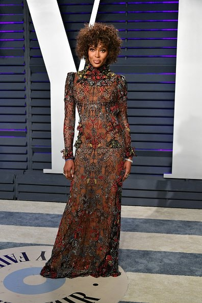 BEVERLY HILLS, CA - FEBRUARY 24:  Naomi Campbell attends the 2019 Vanity Fair Oscar Party hosted by Radhika Jones at Wallis Annenberg Center for the Performing Arts on February 24, 2019 in Beverly Hills, California.  (Photo by Dia Dipasupil/Getty Images)