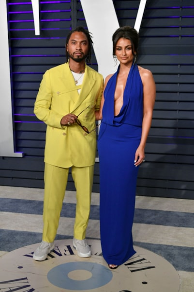 BEVERLY HILLS, CA - FEBRUARY 24:  Miguel (L) and Nazanin Mandi attend the 2019 Vanity Fair Oscar Party hosted by Radhika Jones at Wallis Annenberg Center for the Performing Arts on February 24, 2019 in Beverly Hills, California.  (Photo by Dia Dipasupil/Getty Images)