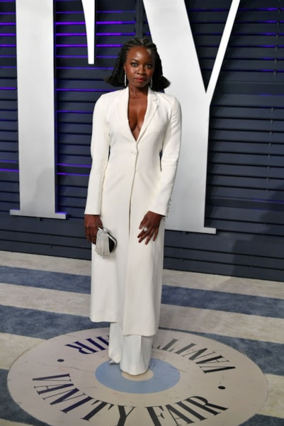 BEVERLY HILLS, CA - FEBRUARY 24:  Danai Gurira attends the 2019 Vanity Fair Oscar Party hosted by Radhika Jones at Wallis Annenberg Center for the Performing Arts on February 24, 2019 in Beverly Hills, California.  (Photo by Dia Dipasupil/Getty Images)
