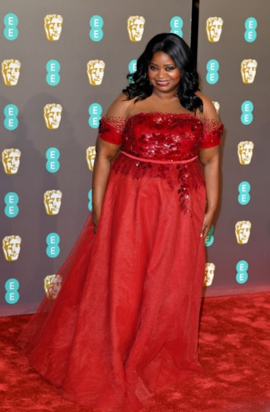 LONDON, ENGLAND - FEBRUARY 10:  Octavia Spencer attends the EE British Academy Film Awards at Royal Albert Hall on February 10, 2019 in London, England. (Photo by Pascal Le Segretain/Getty Images)