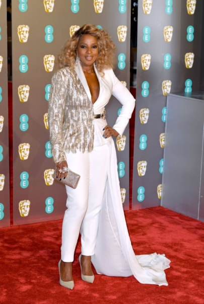 LONDON, ENGLAND - FEBRUARY 10:  Mary J. Blige attends the EE British Academy Film Awards at Royal Albert Hall on February 10, 2019 in London, England. (Photo by Pascal Le Segretain/Getty Images)