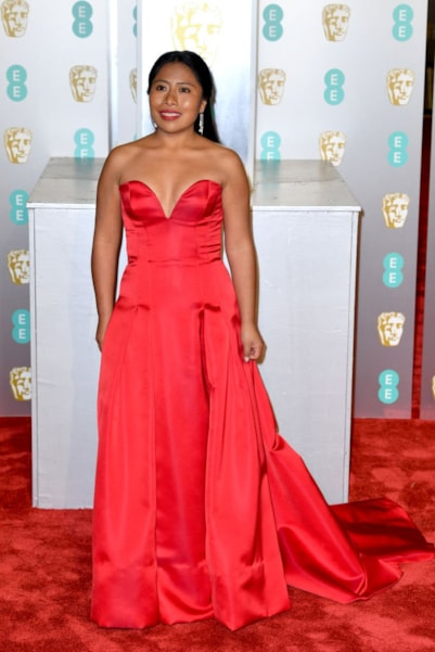 LONDON, ENGLAND - FEBRUARY 10:  Yalitza Aparicio  attends the EE British Academy Film Awards at Royal Albert Hall on February 10, 2019 in London, England. (Photo by Pascal Le Segretain/Getty Images)