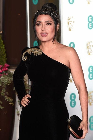LONDON, ENGLAND - FEBRUARY 10: Salma Hayek attends the EE British Academy Film Awards Gala Dinner at Grosvenor House on February 10, 2019 in London, England. (Photo by Eamonn M. McCormack/Getty Images)