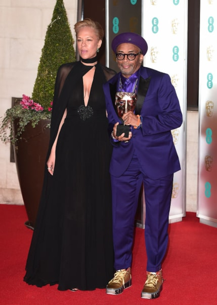 LONDON, ENGLAND - FEBRUARY 10: Tonya Lewis Lee and Spike Lee attend the EE British Academy Film Awards Gala Dinner at Grosvenor House on February 10, 2019 in London, England. (Photo by Eamonn M. McCormack/Getty Images)