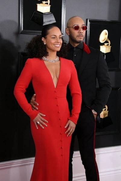 LOS ANGELES, CALIFORNIA - FEBRUARY 10: Alicia Keys and Swizz Beatz attend the 61st Annual GRAMMY Awards at Staples Center on February 10, 2019 in Los Angeles, California. (Photo by Jon Kopaloff/Getty Images)