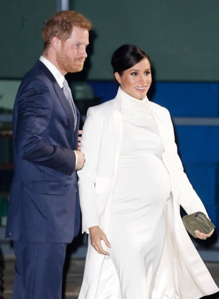 LONDON, ENGLAND - FEBRUARY 12: Prince Harry, Duke of Sussex and Meghan, Duchess of Sussex attend a gala performance of 'The Wider Earth' in support of the Queen's Commonwealth Trust & the Queen's Commonwealth Canopy at the Natural History Museum on February 12, 2019 in London, England.  (Photo by Chris Jackson/Getty Images)