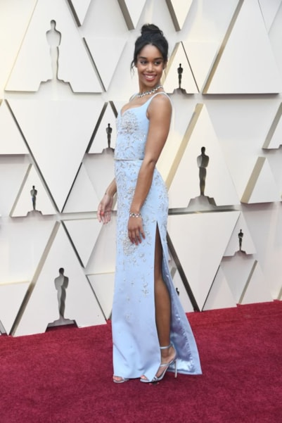HOLLYWOOD, CALIFORNIA - FEBRUARY 24: Laura Harrier attends the 91st Annual Academy Awards at Hollywood and Highland on February 24, 2019 in Hollywood, California. (Photo by Frazer Harrison/Getty Images)
