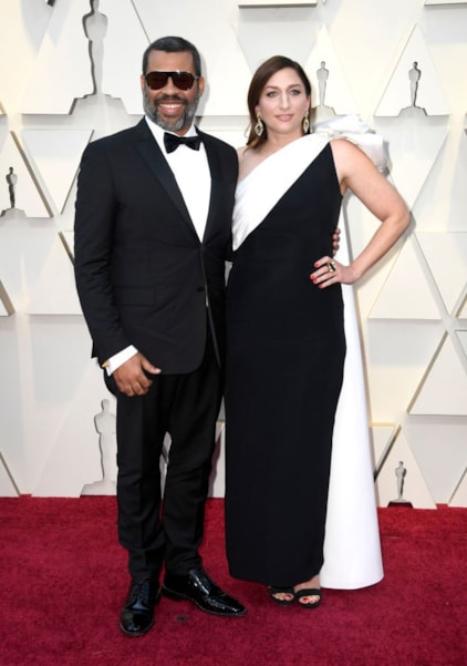 HOLLYWOOD, CALIFORNIA - FEBRUARY 24: (L-R) Jordan Peele and Chelsea Peretti attend the 91st Annual Academy Awards at Hollywood and Highland on February 24, 2019 in Hollywood, California. (Photo by Frazer Harrison/Getty Images)