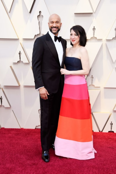 HOLLYWOOD, CALIFORNIA - FEBRUARY 24: (L-R) Keegan-Michael Key and Elisa Pugliese attend the 91st Annual Academy Awards at Hollywood and Highland on February 24, 2019 in Hollywood, California. (Photo by Frazer Harrison/Getty Images)
