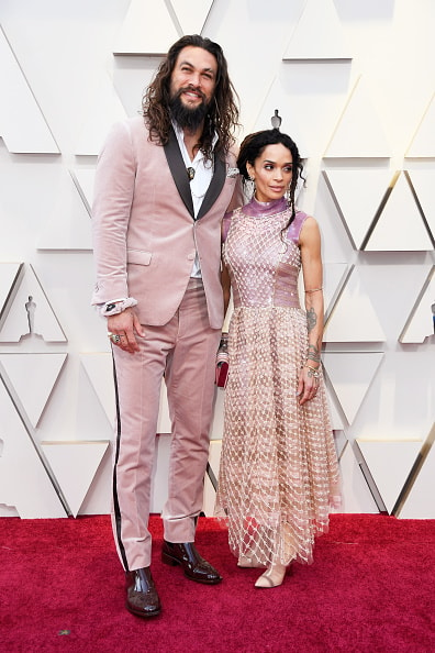 HOLLYWOOD, CALIFORNIA - FEBRUARY 24: (L-R) Jason Momoa and Lisa Bonet attend the 91st Annual Academy Awards at Hollywood and Highland on February 24, 2019 in Hollywood, California. (Photo by Frazer Harrison/Getty Images)