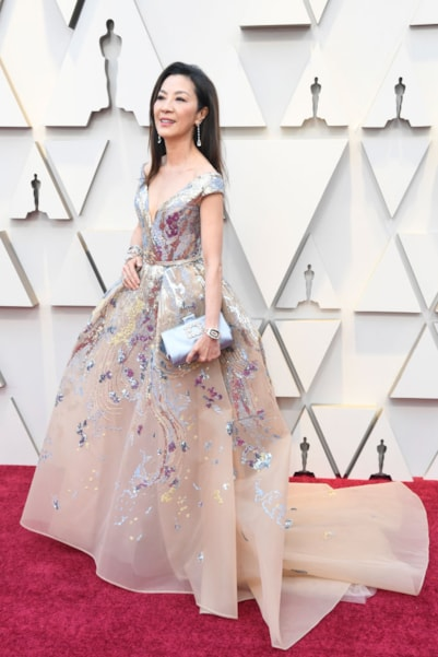 HOLLYWOOD, CALIFORNIA - FEBRUARY 24: Michelle Yeoh attends the 91st Annual Academy Awards at Hollywood and Highland on February 24, 2019 in Hollywood, California. (Photo by Frazer Harrison/Getty Images)