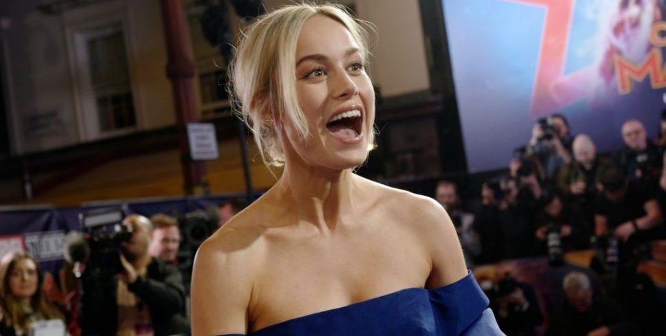 """LONDON, ENGLAND - FEBRUARY 27:  Brie Larson attends the UK Gala Screening of Marvel Studios' """"Captain Marvel"""" at The Curzon Mayfair on February 27, 2019 in London, England. (Photo by Gareth Cattermole/Gareth Cattermole/Getty Images for Disney)"""