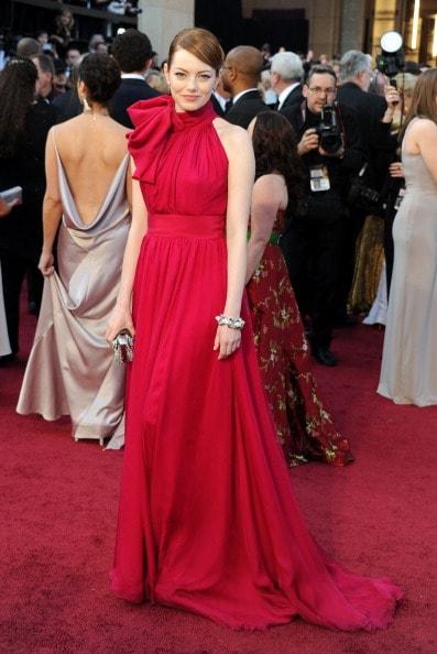 Emma Stone in Giambattista Valli (Photo by Michael Buckner/Getty Images)