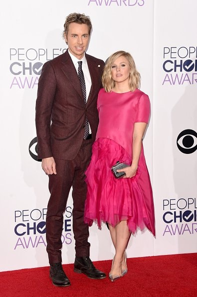 LOS ANGELES, CA - JANUARY 07:  Actors Dax Shephard (L) and Kristen Bell attend The 41st Annual People's Choice Awards at Nokia Theatre LA Live on January 7, 2015 in Los Angeles, California.  (Photo by Jason Merritt/Getty Images)