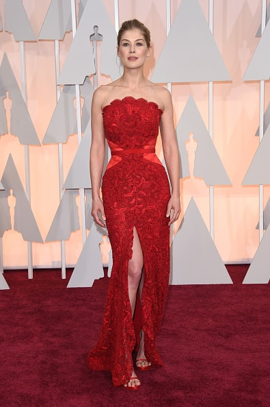Rosamund Pike in Givenchy  (Photo by Jason Merritt/Getty Images)