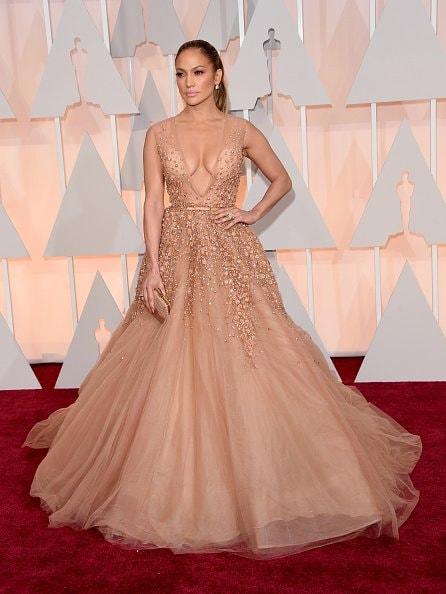 Jennifer Lopez in Elie Saab (Photo by Jason Merritt/Getty Images)