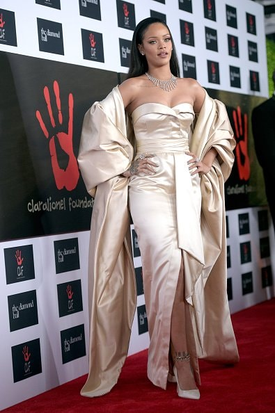 SANTA MONICA, CA - DECEMBER 10:  Recording artist Rihanna attends the 2nd Annual Diamond Ball hosted by Rihanna and The Clara Lionel Foundation at The Barker Hanger on December 10, 2015 in Santa Monica, California.  (Photo by Jason Kempin/Getty Images for The Clara Lionel Foundation)