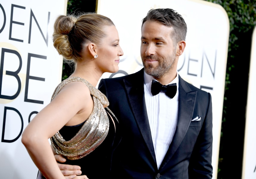 BEVERLY HILLS, CA - JANUARY 08:  Actors Blake Lively and Ryan Reynolds attend the 74th Annual Golden Globe Awards at The Beverly Hilton Hotel on January 8, 2017 in Beverly Hills, California.  (Photo by Frazer Harrison/Getty Images)