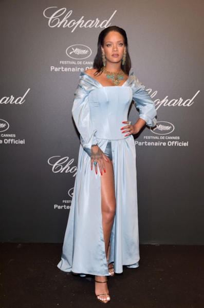 """CANNES, FRANCE - MAY 19:  Rihanna attends the Chopard """"SPACE Party,"""" hosted by Chopard's co-president Caroline Scheufele and Rihanna, at Port Canto on May 19, 2017, in Cannes, France.  (Photo by Pascal Le Segretain/Getty Images for Chopard)"""
