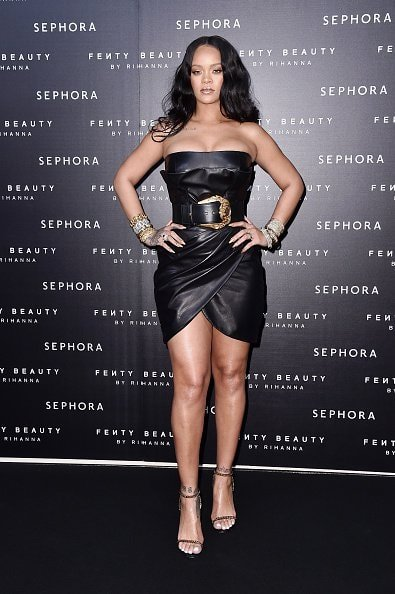 MILAN, ITALY - APRIL 05:  Rihanna attends Sephora loves Fenty Beauty by Rihanna launch event on April 5, 2018 in Milan, Italy.  (Photo by Jacopo Raule/Getty Images for Sephora loves Fenty Beauty by Rihanna )