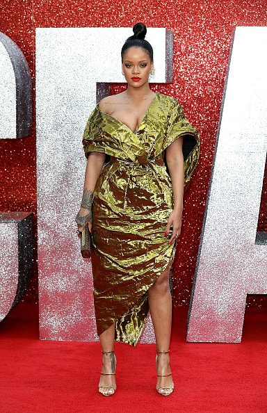LONDON, ENGLAND - JUNE 13:  Rihanna attends the 'Ocean's 8' UK Premiere held at Cineworld Leicester Square on June 13, 2018 in London, England.  (Photo by Tim P. Whitby/Tim P. Whitby/Getty Images)