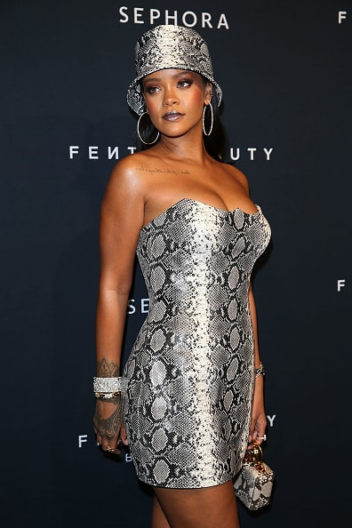 """""""When you realize who you live for, and who's important to please, a lot of people will actually start living. I am never going to get caught up in that. I'm gonna look back on my life and say that I enjoyed it – and I lived it for me.""""   (Photo by Caroline McCredie/Getty Images for Fenty Beauty by Rihanna)"""