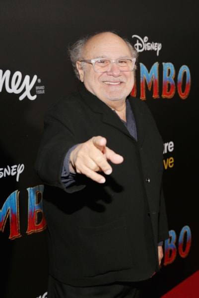 """LOS ANGELES, CA - MARCH 11:  Actor Danny DeVito attends the World Premiere of Disney's """"Dumbo"""" at the El Capitan Theatre on March 11, 2019 in Los Angeles, California.  (Photo by Jesse Grant/Getty Images for Disney)"""