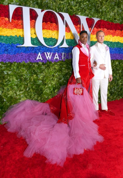 NEW YORK, NEW YORK - JUNE 09: Billy Porter and Adam Smith attend the 73rd Annual Tony Awards at Radio City Music Hall on June 09, 2019 in New York City. (Photo by Nicholas Hunt/Getty Images)
