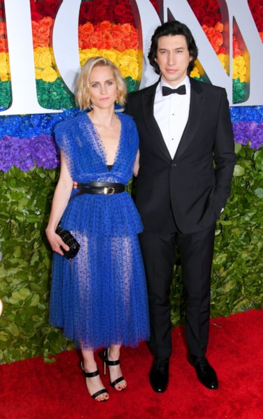 NEW YORK, NEW YORK - JUNE 09: Joanne Tucker and Adam Driver attend the 73rd Annual Tony Awards at Radio City Music Hall on June 09, 2019 in New York City. (Photo by Nicholas Hunt/Getty Images)