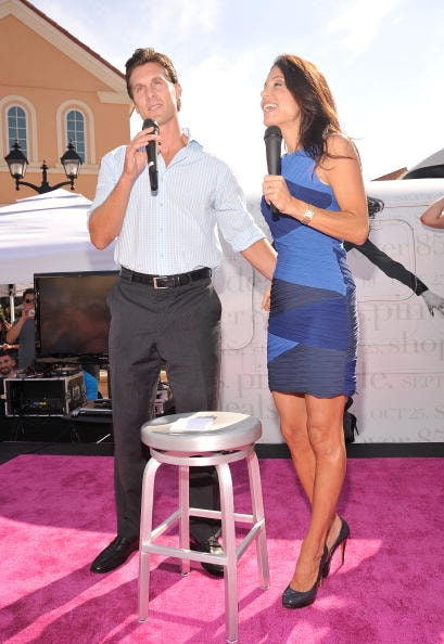 Bethenny Frankel and ex-husband Jason Hoppy during better days.