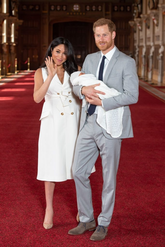 The Duke and Duchess of Sussex and their baby